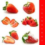 设置草莓 图库摄影