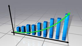 禁止企业图表曲线 免版税库存图片