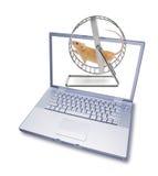 计算机网络连接社会工艺学 免版税库存照片
