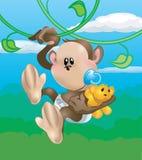 χαριτωμένος πίθηκος Στοκ Εικόνες