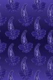 蓝色设计无缝的佩兹利 库存照片