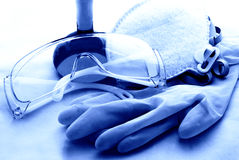 инструменты химической безопасности Стоковые Фотографии RF