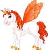 Πορτοκαλί άλογο ουρών νεράιδων Στοκ Εικόνες