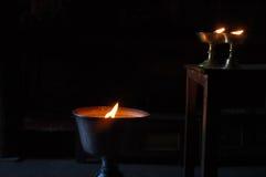 буддийские светильники масла Стоковые Изображения