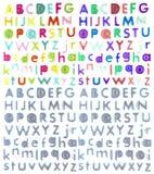 塑料五颜六色的信函 免版税图库摄影