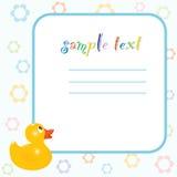 婴孩设计框架 免版税库存照片