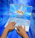 计算机网络连接社会时间浪费 免版税库存照片