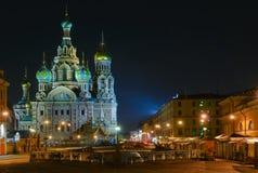 教会正统彼得斯堡俄国圣徒 图库摄影