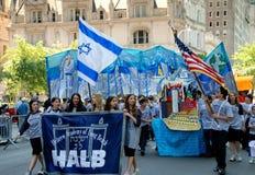 城市以色列新的游行致敬向约克 免版税库存照片