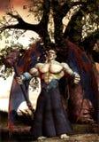 ратник фантазии демона Стоковое Фото