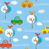 картина автомобилей милая безшовная Стоковое Изображение