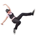 женщина победы свободной счастливой скачки предназначенная для подростков Стоковое фото RF
