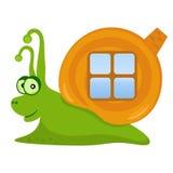 愉快的蜗牛 免版税库存照片