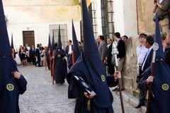 庆祝复活节赫雷斯游行西班牙 免版税图库摄影