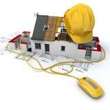 желтый цвет строительной площадки Стоковое Фото