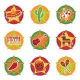 иконы мексиканские Стоковое Изображение