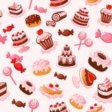 背景无缝的甜点 免版税图库摄影