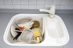 βρώμικα πιάτα Στοκ Φωτογραφίες