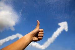 企业图形利润成功赞许 免版税库存照片