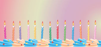 свечки дня рождения Стоковое фото RF
