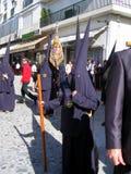 庆祝复活节赫雷斯游行西班牙 免版税库存照片