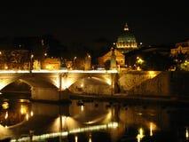 罗马的晚上 库存照片
