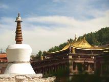 佛教徒修道院青海 免版税库存照片