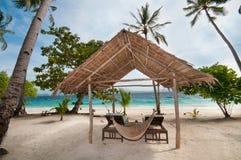 热带的小屋 免版税图库摄影