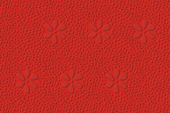 二面对切的模式红色 库存图片