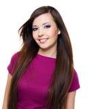 Όμορφη γυναίκα με το οδοντωτό χαμόγελο Στοκ φωτογραφίες με δικαίωμα ελεύθερης χρήσης