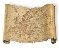 古老欧洲映射 免版税库存图片