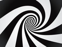 弯曲的隧道 免版税库存照片