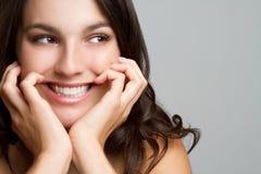 подростковое девушки счастливое Стоковое Изображение