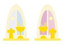 окна церков Стоковые Фото