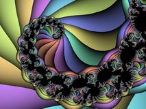спираль фрактали Стоковое Изображение RF