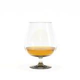 一口威士忌酒杯科涅克白兰地 免版税库存照片