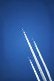 飞机喷气机天空流 库存照片