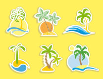 热带的贴纸 库存图片