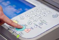 多功能打印机起始时间 免版税库存图片