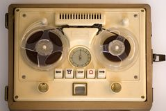 老可移植的记录员磁带 免版税库存照片