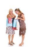 女儿母亲购物 免版税图库摄影
