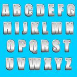字体金属类型 免版税库存图片