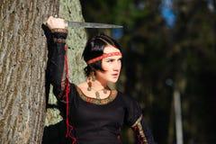 κορίτσι στιλέτων Στοκ εικόνες με δικαίωμα ελεύθερης χρήσης