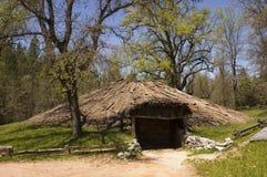 美洲印第安人小屋 库存照片