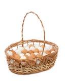 篮子鸡蛋 图库摄影
