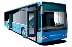 现代的公共汽车 免版税库存图片