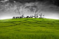 относящое к окружающей среде загрязнение Стоковая Фотография RF