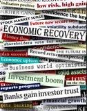 财务标题恢复 免版税库存照片