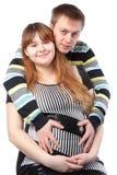 женщина семьянина младенца супоросая Стоковая Фотография RF