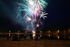 διακοπές πυροτεχνημάτων Στοκ Φωτογραφία